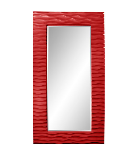Howard Elliott Collection 56001R Broadway 58 X 30 inch Red Wall Mirror photo