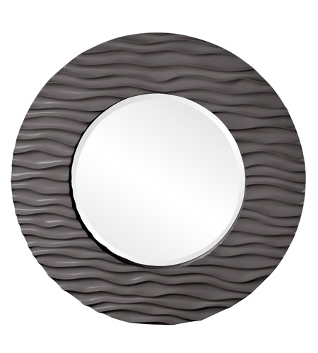 Howard Elliott Collection 56002CH Broadway 58 X 30 inch Charcoal Gray Wall Mirror, Round photo