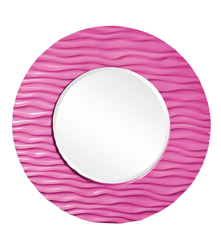 Howard Elliott Collection 56002HP Broadway 58 X 30 inch Hot Pink Wall Mirror, Round photo