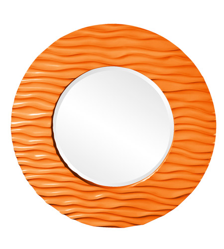 Howard Elliott Collection 56002O Broadway 58 X 30 inch Orange Wall Mirror, Round photo