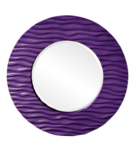 Howard Elliott Collection 56002RP Broadway 58 X 30 inch Royal Purple Wall Mirror, Round photo