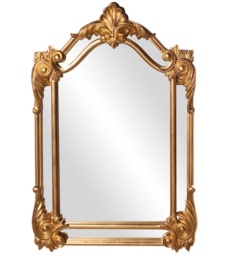 Howard Elliott Collection 56004 Cortland 47 X 32 inch Antique Gold Leaf Wall Mirror, Rectangle photo