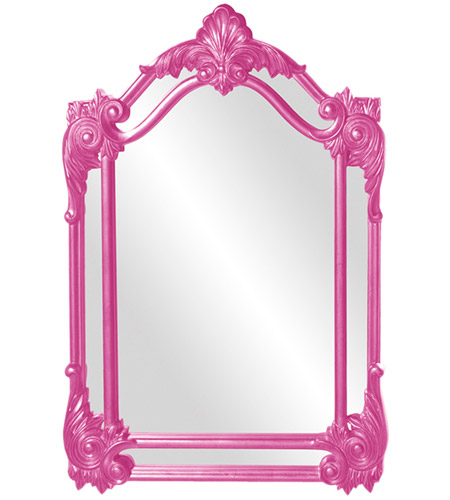 Howard Elliott Collection 56004HP Cortland 47 X 32 inch Hot Pink Wall Mirror photo