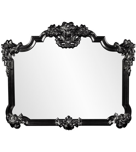 Howard Elliott Collection 56006BL Avondale 48 X 39 inch Black Wall Mirror photo