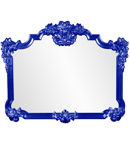 Howard Elliott Collection 56006RB Avondale 48 X 39 inch Glossy Royal Blue Wall Mirror photo