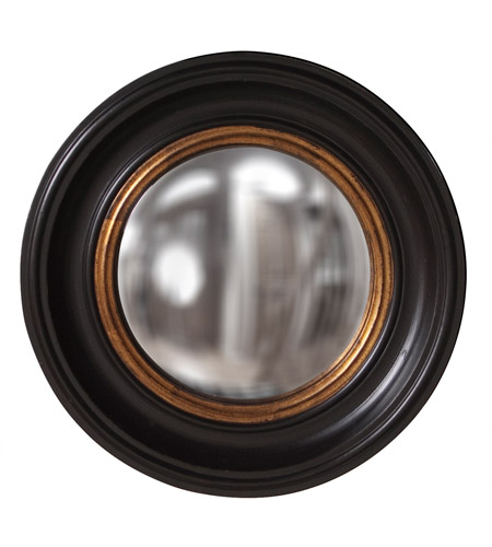 Howard Elliott Collection 56010 Albert 21 X 21 inch Black Lacquer Wall Mirror, Round photo