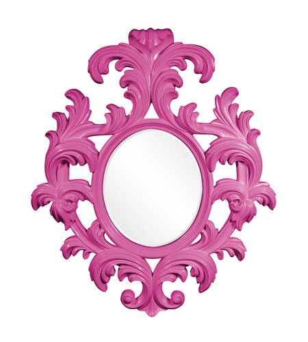 Howard Elliott Collection 56044HP Alexi 59 X 50 inch Hot Pink Wall Mirror photo