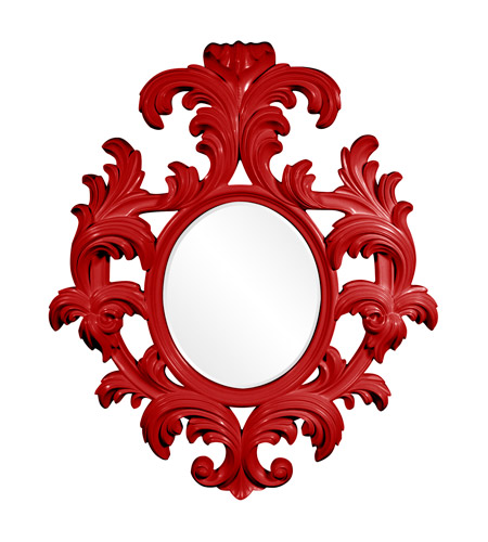Howard Elliott Collection 56044R Alexi 59 X 50 inch Red Wall Mirror photo