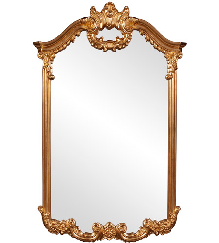 Howard Elliott Collection 56048 Roman 51 X 32 inch Bright Gold Leaf Wall Mirror, Rectangle photo