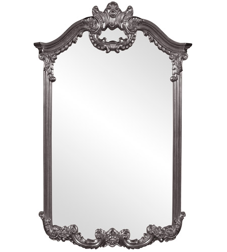 Howard Elliott Collection 56048CH Roman 51 X 32 inch Charcoal Gray Wall Mirror photo