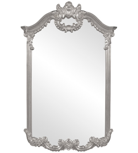 Howard Elliott Collection 56048N Roman 51 X 32 inch Nickel Wall Mirror photo