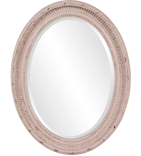 Howard Elliott Collection 56063 Nero 34 X 26 inch Rustic Stone Gray Wall Mirror, Oval photo
