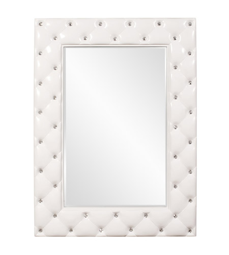 Howard Elliott Collection 56093 Glamour 47 X 34 inch Glossy White Wall Mirror, Rectangle photo