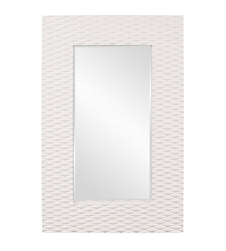 Howard Elliott Collection 56094 Canfield 63 X 39 inch Glossy Bright White Wall Mirror, Rectangle photo