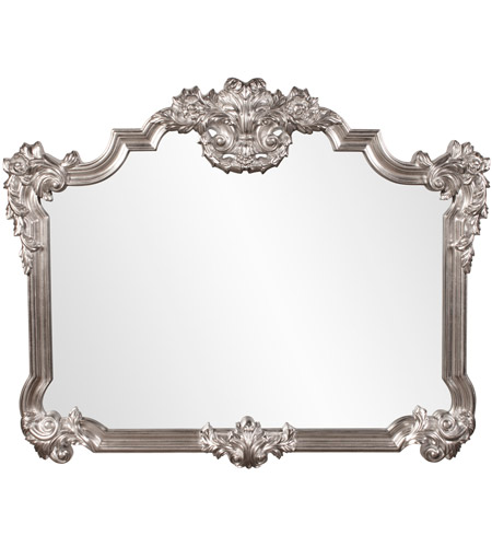 Howard Elliott Collection 56095 Brighton 48 X 39 inch Bright Silver Leaf Wall Mirror, Rectangle photo