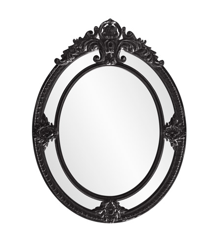 Howard Elliott Collection 56096BL Penelope 52 X 39 inch Black Wall Mirror photo