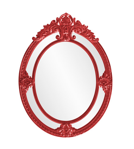 Howard Elliott Collection 56096R Penelope 52 X 39 inch Red Wall Mirror photo