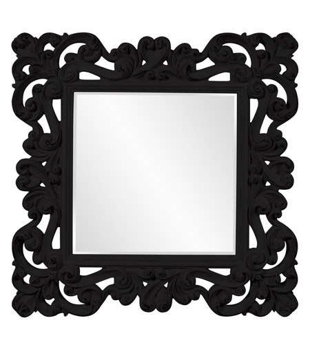 Howard Elliott Collection 56099BL Reese 47 X 47 inch Black Wall Mirror photo