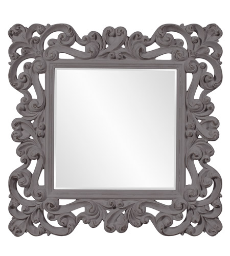 Howard Elliott Collection 56099CH Reese 47 X 47 inch Charcoal Gray Wall Mirror photo