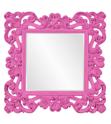 Howard Elliott Collection 56099HP Reese 47 X 47 inch Hot Pink Wall Mirror photo