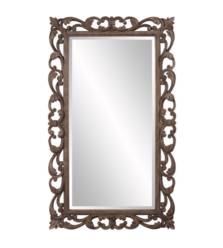 Howard Elliott Collection 56118 Cheltenham 57 X 34 inch Textured Rust Brown Wall Mirror, Rectangle photo
