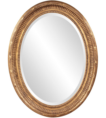 Howard Elliott Collection 56120 Nero 34 X 26 inch Rich Country Gold Wall Mirror, Oval photo