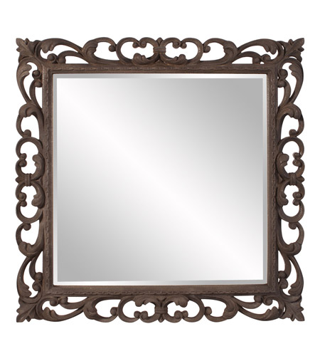 Howard Elliott Collection 56127 Cheltenham 41 X 41 inch Textured Rust Brown Wall Mirror, Square photo