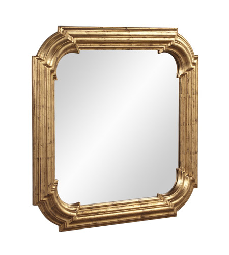Howard Elliott Collection 56129 Hannah 30 X 30 inch Rich Country Gold Wall Mirror, Square photo
