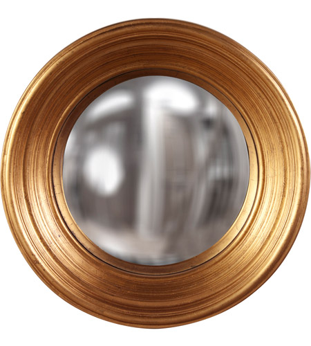 Howard Elliott Collection 56133 Silas 20 X Inch Country Gold Leaf Wall Mirror Round