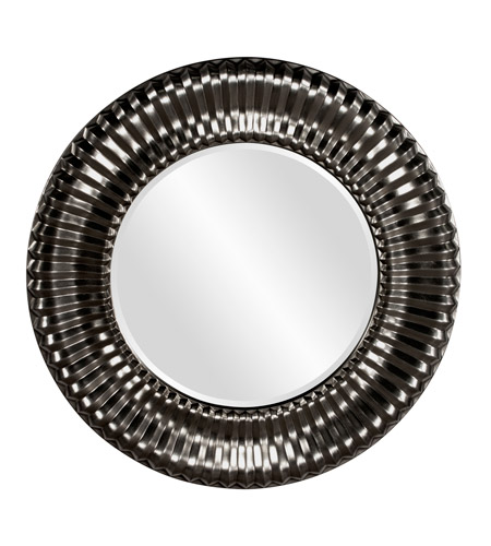 Howard Elliott Collection 56149BL Sao Paulo 31 X 31 inch Black Wall Mirror, Round photo
