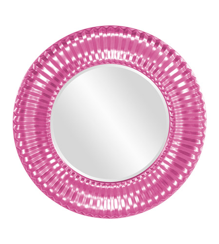 Howard Elliott Collection 56149HP Sao Paulo 31 X 31 inch Hot Pink Wall Mirror, Round photo