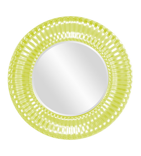Howard Elliott Collection 56149MG Sao Paulo 31 X 31 inch Moss Green Wall Mirror, Round photo