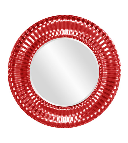 Howard Elliott Collection 56149R Sao Paulo 31 X 31 inch Glossy Red Wall Mirror, Round photo