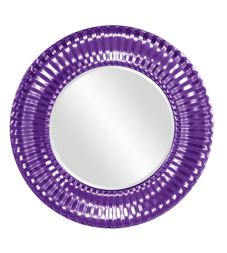 Howard Elliott Collection 56149RP Sao Paulo 31 X 31 inch Glossy Purple Wall Mirror, Round photo