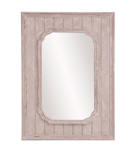 Howard Elliott Collection 56155 Cooper 43 X 31 inch Rustic Taupe Wall Mirror, Rectangle photo