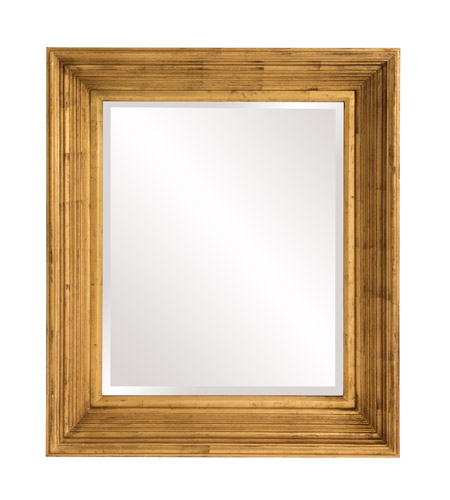 Howard Elliott Collection 56166 Arlo 31 X 27 inch Country Gold Wall Mirror, Rectangle photo