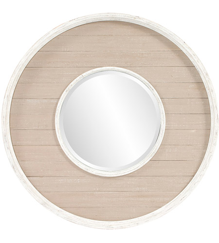 Howard Elliott Collection 56183 Benton 32 X 32 inch Antique Taupe Wall Mirror, Round photo