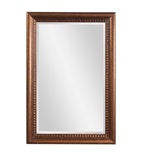 Howard Elliott Collection 57005 Dorian 36 X 24 inch New England Gold Wall Mirror, Rectangle photo