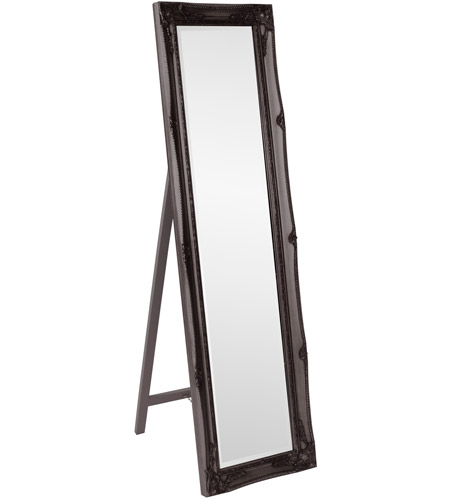 Howard Elliott Collection 57029 Queen Ann Standing 66 X 18 inch Black Wall Mirror, Rectangle photo