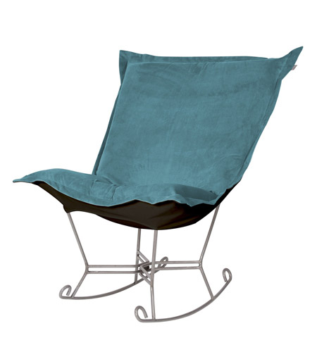 Howard Elliott Collection 600-250 Mojo Turquoise Blue Rocker Chair photo