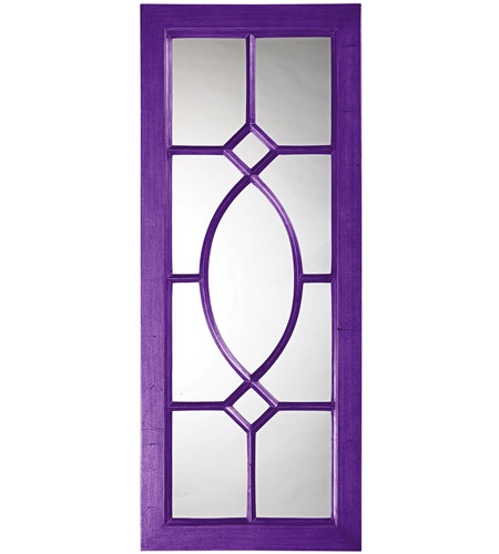Howard Elliott Collection 60108RP Dayton 53 X 21 inch Royal Purple Wall Mirror photo