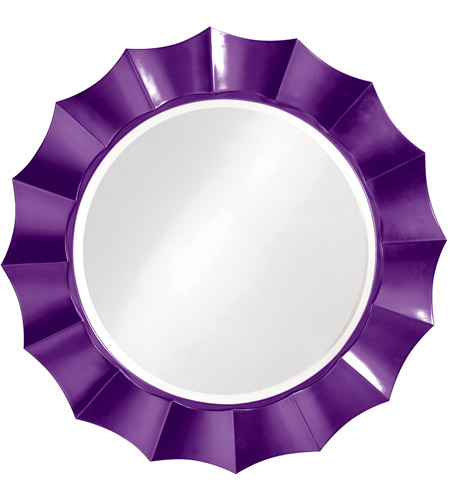 Howard Elliott Collection 6019RP Corona 41 X 41 inch Glossy Purple Wall Mirror, Round photo