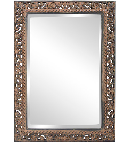 Howard Elliott Collection 6041 Bristol 36 X 26 inch Antique Black Wall Mirror, Rectangle photo