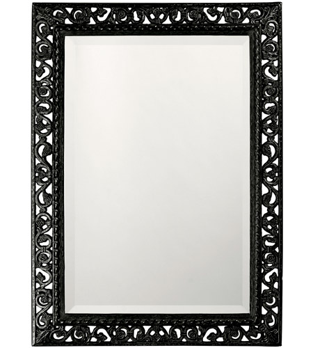 Howard Elliott Collection 6041BL Bristol 36 X 26 inch Black Wall Mirror, Rectangle photo