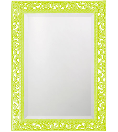 Howard Elliott Collection 6041MG Bristol 36 X 26 inch Moss Green Wall Mirror, Rectangle photo