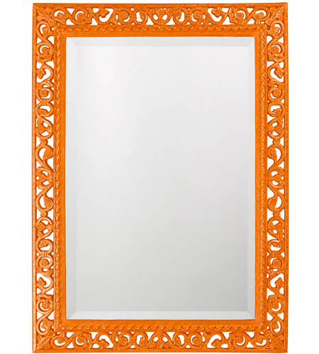 Howard Elliott Collection 6041O Bristol 36 X 26 inch Orange Wall Mirror, Rectangle photo