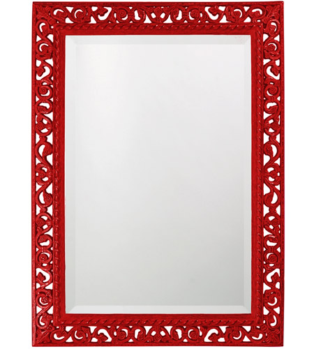 Howard Elliott Collection 6041R Bristol 36 X 26 inch Black Wall Mirror, Rectangle photo