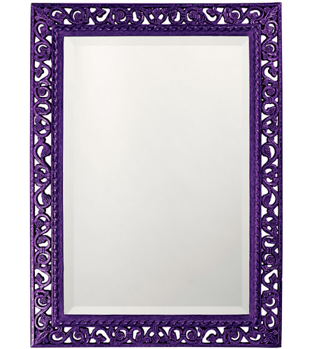 Howard Elliott Collection 6041RP Bristol 36 X 26 inch Black Wall Mirror, Rectangle photo