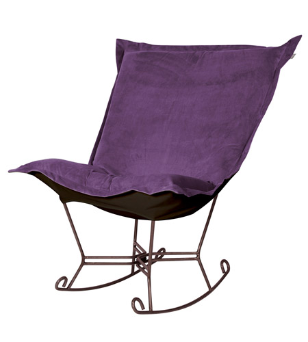 Howard Elliott Collection 655-223 Bella Deep Eggplant Rocker Chair photo