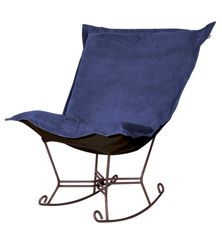 Howard Elliott Collection 655-972 Bella Rich Royal Blue Rocker Chair photo